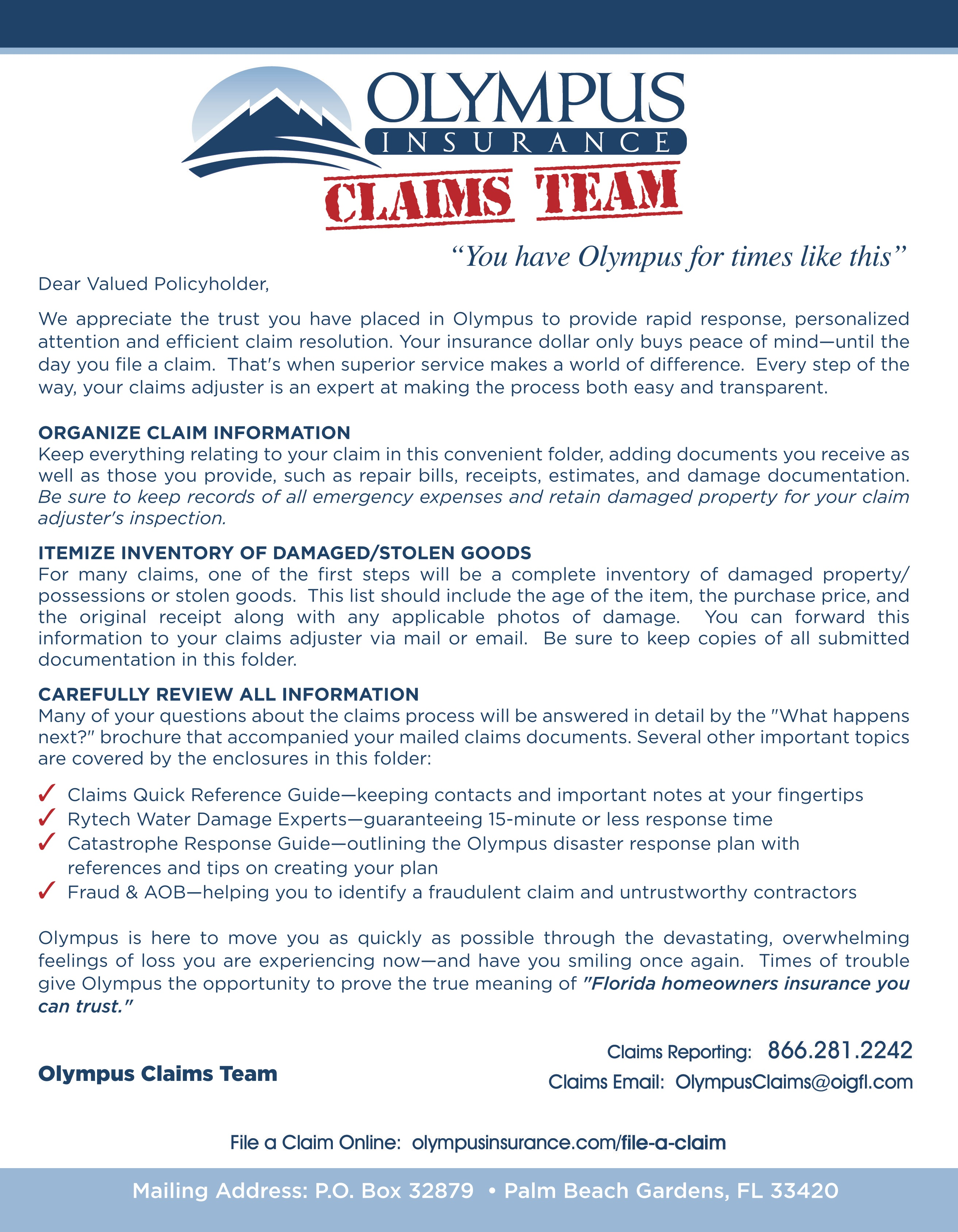 claims cover letters